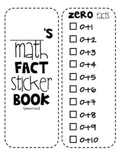 Day Four: Sticker BooksThe Math Fact Sticker Book is a must-have for math intervention! You can also give out stickers for the books after you complete timed math fluency tests, etc. {Side Note: I wouldn't encourage doing the facts straight down the page in order--students will begin to see the pattern. Use flash cards or a fluency test to ensure true mastery of the facts, then allow students to add stickers.}