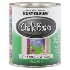 Rust-Oleum Specialty 30 oz. Flat Black Chalkboard Paint-206540 - The Home Depot | 1000 Chalkboard Paint Furniture, White Chalkboard Paint, Chalkboard Paint Crafts, Painted Furniture, Space Furniture, Chalk Writing, Magnetic Paint, Chalk Paint Colors, Wall Colors