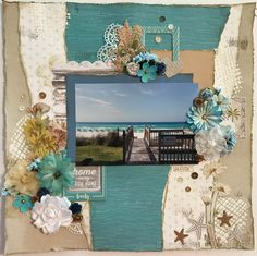 No Worries - Home Away From Home Scrapbook Layout www.inspiredpapercrafts.com