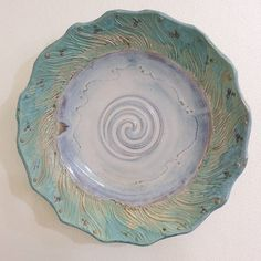 Wall hanging platter #pottery #platter #colorful