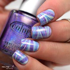 watermarble holo color club nail art by melyne nailart