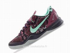 best loved 8711b 98b4b Nike Kobe 8 Violet Vert Noir Blanc Basket Nike Pas Chere