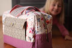 I couldn't make one without making another, right? Seems only fair. Emily is quite pleased with her very own Cargo Duffle(free pattern designed by me for Robert Kaufman). I just loved seeing her reaction to this bag. She was so excited to put her things in it right away. If you can't tell I love …