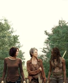 The Walking Dead Maggie, Carol, Michone