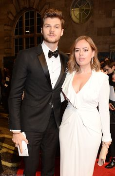 Not happy... Blogging supremo Tanya Burr arrived on the arm of her husband Jim Chapman, wh...