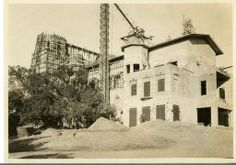 Casa Grande Construction | Kennedy Library Online Archive San Simeon, Online Archive, The Ranch, Construction, Places, Outdoor, Building, Outdoors, Outdoor Games