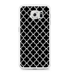 Black And White Quatrefoil Pattern Samsung Galaxy S6 Case