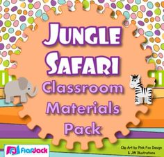 Jungle Safari Animals Themed Classroom Materials Pack - If you are considering the jungle/safari theme this year, this pack will make your classroom completely roar-rific! Safari Theme, Jungle Safari, Safari Animals, Jungle Theme, Safari Party, Classroom Jobs Display, Classroom Themes, Name Tag Design
