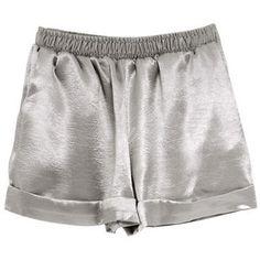 Silky Shorts Silver
