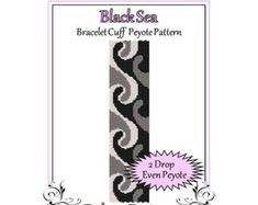 Bead Pattern PeyoteBracelet CuffCancer by FUNPATTERNDESIGNS