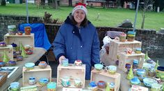 Our Hand painted ceramics at the Hythe Mistletoe Fair 2017 Hand Painted Ceramics, Mistletoe, Lovely Things, Hands, Painting, Hand Painted Pottery, Painting Art, Paintings, Painted Canvas