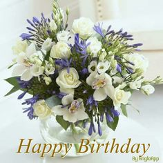 Next – Flowers and Gift Cards delivered next day - White and Blue Orchid Bouquet Happy Birthday Flower Bouquet, Happy Birthday Flowers Wishes, Happy Birthday Quotes, Happy Birthday Images, Happy Birthday Greetings, Birthday Wishes, October Flowers, Next Flowers, Flowers Uk