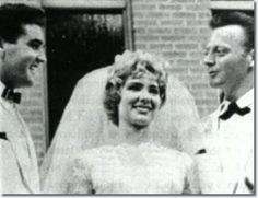 ♡♥Elvis Presley 26 is the best man at Red & Pat West's wedding on July 1st,1961♥♡