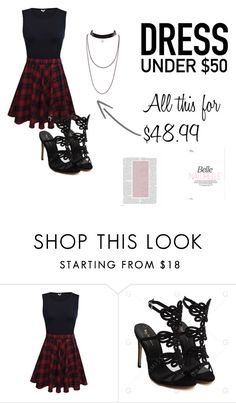 """Dress for under $50 #2"" by julia-toney ❤ liked on Polyvore featuring under50 and Dressunder50"