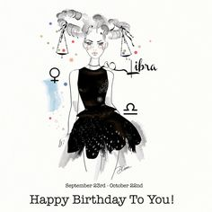 Libra Bilancia Birthday Card Greeting Card by DannyCaranStudio