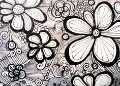 zentangle flowers - Buscar con Google
