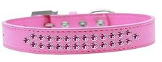 Mirage Pet Products Two Row Bright Pink Crystal Bright Pink Dog Collar *** Check out this great product. (This is an affiliate link) #MyPet