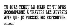 #quote #citation #amour #amitie #soutien Math Equations, Citation Amour