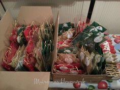 Tütchen, vorsortiert und bereit zum Verpacken und Versand