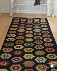 """#countryliving #dreambedroom   This all-time favorite """"heirloom"""" rug would look fabulous in a country black & white bedroom space, as it is so  versatile ... colorful bedroom accessories could be added for that extra punch of color..."""