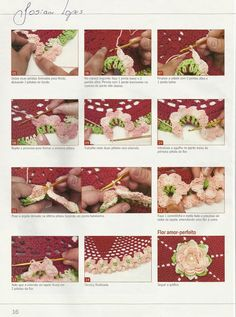 CROCHÊ Amor Perfeito - Flor. - / CROCHET Perfect Love - Flower. -