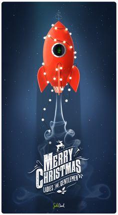 CHRISTMAS ROCKET by Mateusz Chmura