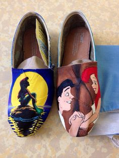 Hand Painted Little Mermaid TOMS on Etsy, $100.00 AMAZING WORK!