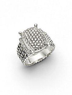 David Yurman - Diamond & Sterling Silver Wheaton Ring