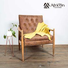 Accesorios decorativos para el hogar African-Leather.  Becerro de cuero amarillo