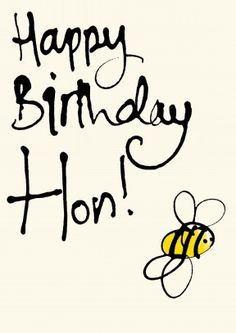 Happy Birthday Hon   Sweet Happy Birthday Card