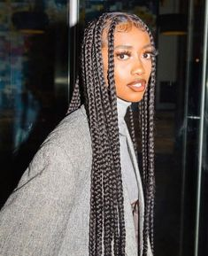 Big Box Braids Hairstyles, Braids Hairstyles Pictures, Braided Hairstyles For Black Women, African Braids Hairstyles, Girl Hairstyles, Protective Hairstyles, Protective Styles, Straight Hairstyles, Black Box Braids