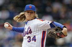 24. Noah Syndergaard  -  Noah Seth Syndergaard, nicknamed Thor, is an American professional baseball pitcher for the New York Mets of Major League Baseball. Syndergaard made his MLB debut on May 12, 2015.