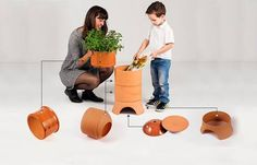 Compost with style - and with worms - using this terracotta vermicomposter : TreeHugger