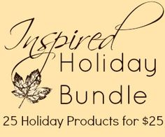 Inspired Holiday Bundle - 25 products for holiday inspiration at only $25 #InspiredBN   www.ParadisePraises.com