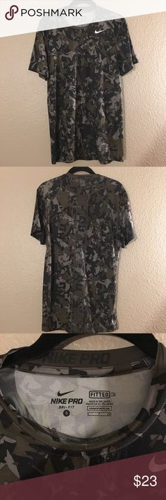 Nike Pro Fitted Shirt Worn once. Great condition. Comes from smoke free environment Nike Shirts Tees - Short Sleeve