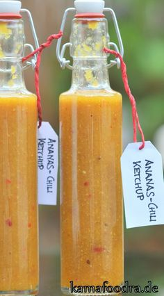 Flaschen2                                                                                                                                                      Mehr Ketchup, Chutneys, Juice For Diabetes, Butter Spread, Time To Eat, Canning Recipes, Hot Sauce Bottles, Dips, Pesto