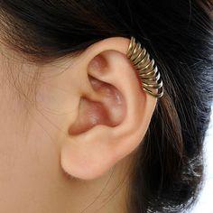 Unique Vintage Bronze Annulus Punk Gothic Ear Cuff Wrap Clip Earring No Piercing on Etsy, $2.13 CAD