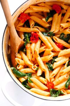 This dreamy Creamy Rosé Pasta recipe is made with lots of roasted tomatoes, spinach, garlic, basil and Parmesan.  And it's tossed with the most delicious creamy sauce, made with half a bottle of rosé wine.  Perfect for a date night in! Anytime I ask Barclay what we should make for dinner that night, he'll pause for a …