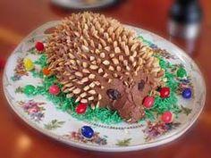 Igel Cake served traditionally at Easter dinner in Germany (Hedgehog cake)