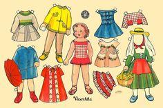 Vicentita, a Spanish paper doll illustrated by Enriqueta Bombon   BRUGUERA   MARGA - Álbumes web de Picasa