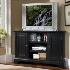 Bedford Corner Entertainment Stand - Ebony $389 #table