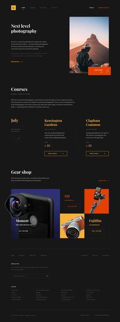 Dribbble - by Viktor Kirichenko Design Sites, Site Web Design, Creative Web Design, Website Design Layout, Web Design Trends, Website Design Inspiration, Ux Design, Minimal Web Design, Modern Web Design