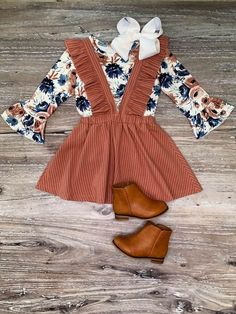 Blush Floral Pinstripe Suspender Set Baby Clothes Boutique – online baby clothes stores where you can find fashionable baby clothes. There is a kid and baby style here. Toddler Fall Outfits Girl, Girls Fall Outfits, Toddler Girl Style, Little Girl Outfits, Little Girl Fashion, Toddler Fashion, Fashion Kids, Cute Kids Outfits, Baby Style