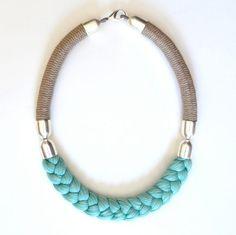 rope necklace i s a b e l l a por noquvy en Etsy, $122.00