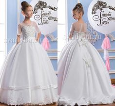 2016 Sheer Neck Lace Pearls Luxurious Arabic Flower Girl Dresses Vintage Child Pageant Dresses Beautiful Flower Girl Wedding Dresses F29 Flower Girls Dress Girl Dress Shoes From Weddingmall, $86.68| Dhgate.Com