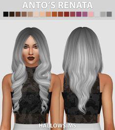 Hallow Sims: Anto`s Renata hair retextured  - Sims 4 Hairs - http://sims4hairs.com/hallow-sims-antos-renata-hair-retextured/