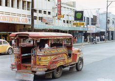"""one of the """"famous"""" Jeepneys (or was it Jeepnies?) in Olongapo city Philippines! Subic Bay, Navy Day, Us Navy, Filipino Architecture, Inflatable Island, Olongapo, Jeepney, Disco Club, Philippines"""