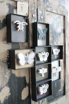 Curiosity Cabinet, Decoration, Boutique, Book Art, Mandala, Match Boxes, Paper Patterns, Paper Crafts, Unique Jewelry