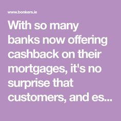 With so many banks now offering cashback on their mortgages, it's no surprise that customers, and especially first-time buyers, are being tempted by these often sizeable lump sums of cash. The question to consider before diving in is; do these offers represent the best value over the long term? New Builds, Banks, Diving, First Time, Good Things, This Or That Questions, Scuba Diving, Couches