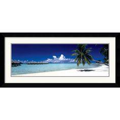 Tropical Beach (Panel)' Framed Art Print | Overstock.com Shopping - The Best Deals on Prints
